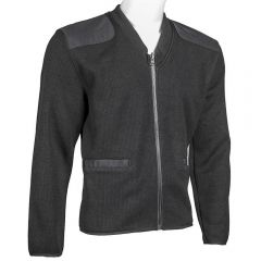 V-Neck Zip-Front Fleece Lined Commando Sweater