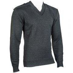V-Neck Military Sweater