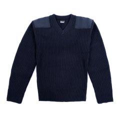 Lined V-Neck Sweater