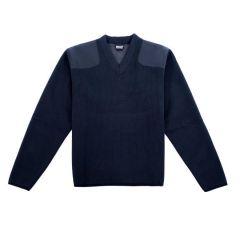Fleece-Lined V-Neck Sweater
