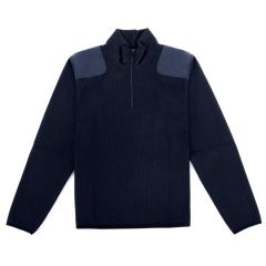 Fleece-Lined Quarter Zip Sweater
