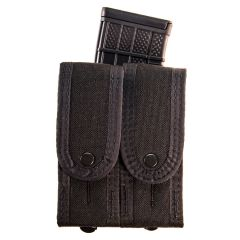 Duty Staggered Double Pistol Covered TACO Pouch with Rifle Mag