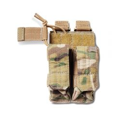 Bungee Double Pistol Mag Pouch with Cover