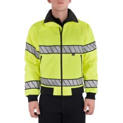 Hi-Vis Fleece Lined Bomber Jacket