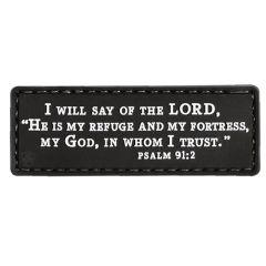 Psalm 91:2 PVC Morale Patch