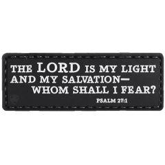 Psalm 27:1 PVC Morale Patch