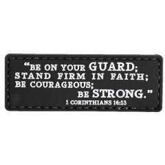 1 Corinthians 16:13 PVC Morale Patch