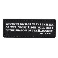Psalm 91:1 PVC Morale Patch