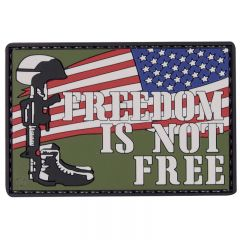 Freedom Is Not Free PVC Morale Patch