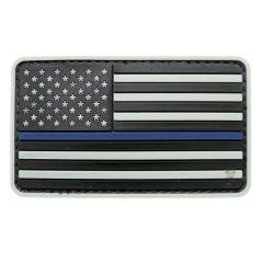 Thin Blue Line Flag PVC Morale Patch