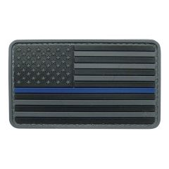 U.S. Flag Black with Blue Stripe Morale Patch