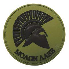 Molon Labe-Olive Drab PVC Morale Patch