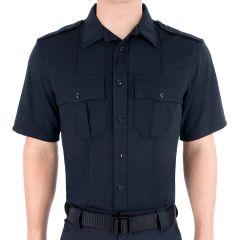 Zippered Bicomponent Knit Shirt