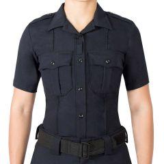 Wool Blend Short Sleeve Supershirt for Women
