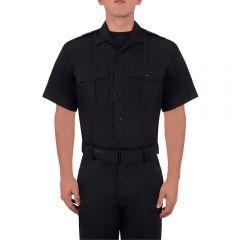 Short Sleeve Zippered Polyester Shirt