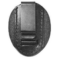 Leather Clip-On Badge Holder