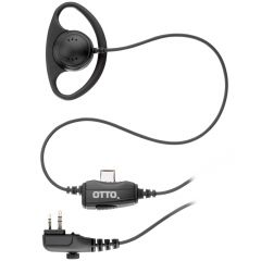 Fixed Ear Hanger with in-line PTT and Mic