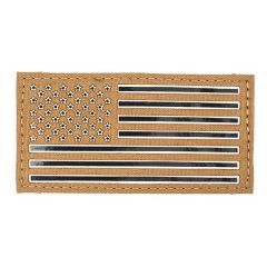 "2""x4"" GLO/IR American Flag IFF Patch"