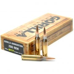 260 REM 130gr Berger Hybrid Tactical Match Grade Cartridges