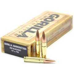 300 BLK 147gr FMJ Match Grade Cartridges