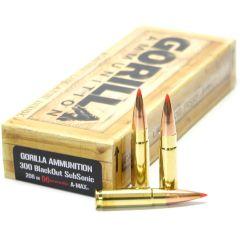 300 BLK SubSonic 208gr Hornady A-Max Match Grade Cartridges
