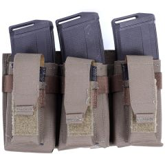 Laser Cut Triple 2 Stacked Rifle/Triple Pistol Mag Pouch