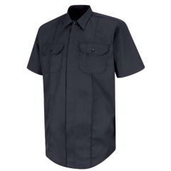 New Dimension Concealed Button Front Short Sleeve Shirt
