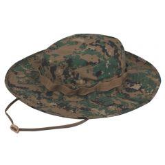Wide Brim 65/35 Poly/Cotton Twill Boonie Hat